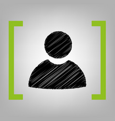 user sign black scribble vector image vector image