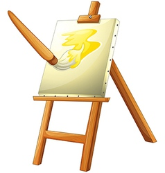 A painting board vector image vector image
