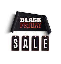 black friday background curved paper banner vector image