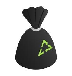 Black rubbish bag vector image vector image