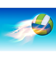 Flaming Volleyball in the Sky vector image vector image
