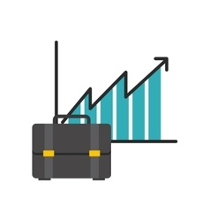 infographic with briefcase icon vector image vector image