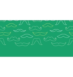 Line art mustaches horizontal seamless pattern vector