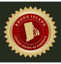 Star label Rhode Island vector image