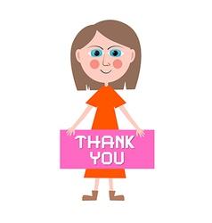 Thank You Woman vector image vector image