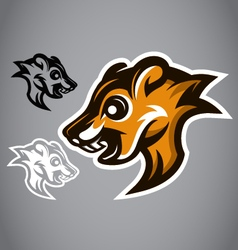 Wild squirrel head brown logo 2901 vector