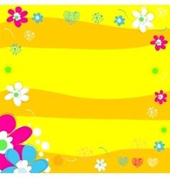 Bright wedding invitation in vector image vector image