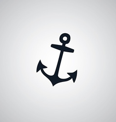 pirate anchor flat icon theme vector image