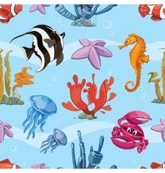 Underwater seamless background with sea vector image vector image