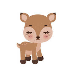 adorable little deer in flat vector image