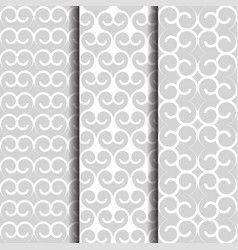 arabic style oriental patterns set white and vector image