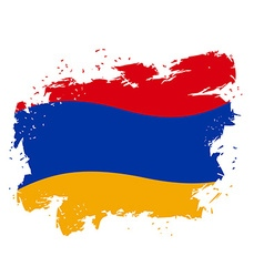 Armenia flag Grunge style on gray background Brush vector image