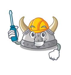 Automotive viking helmet in a cartoon vector