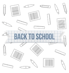Back to School greeting Text on paper Label vector image