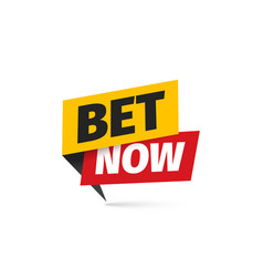 Bet now isolated icon sticker for gamble vector