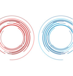 blue and red hud circles futuristic abstract vector image
