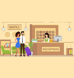 booking service and accommodation cartoon flat vector image