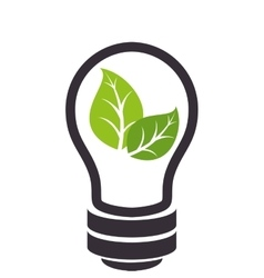 bulb with ecology symbol vector image