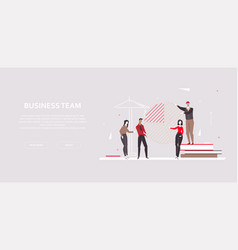 Business team - modern flat design style colorful vector
