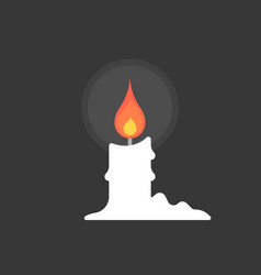 Candle in the night with candle tears vector