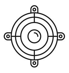 Car speaker icon outline style vector