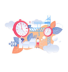 Cartoon flat plan for next day time management vector