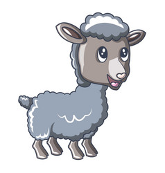 child sheep icon cartoon style vector image