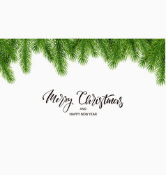 Christmas background with fir tree branches vector