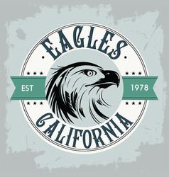 Classical flat eagle logo vector
