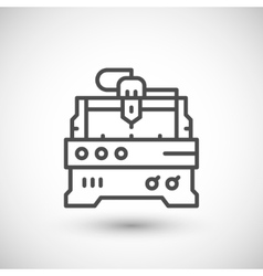 Cnc milling machine line icon vector