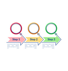 colorful circles infographic template vector image