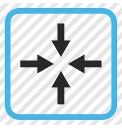 Compress Arrows Icon In a Frame vector