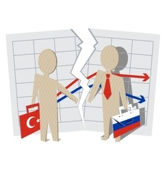 Conflict between Turkey and Russia Gap between vector