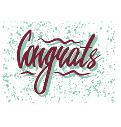 Congrats word with confetti vector