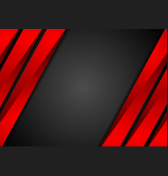Contrast red black tech corporate background vector