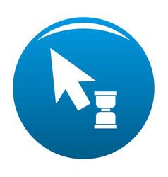 cursor wait web icon blue vector image