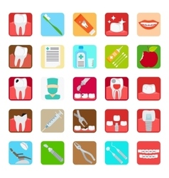 Dental clinic services icons vector image