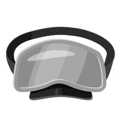 Dive mask icon gray monochrome style vector