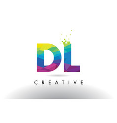 Dl d l colorful letter origami triangles design vector