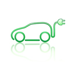 electric powered car symbol vector image
