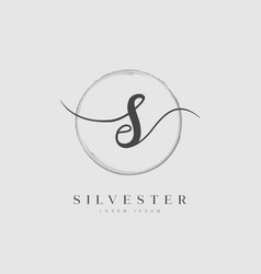 elegant initial letter type s logo vector image