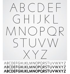 Elegant light font alphabet letters design vector