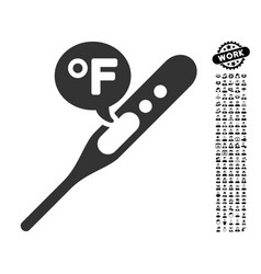 Fahrenheit temperature icon with professional vector