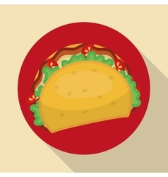 Fast food icons design vector image