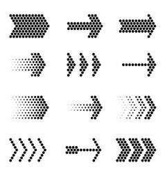 flat design arrow navigation icon set vector image