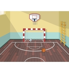 flat of sport room in vector image