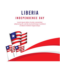 Happy liberia independence day celebration poster vector