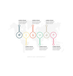 infographic thin line design template process vector image