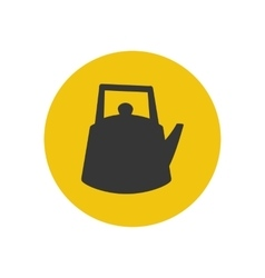 Kettle silhouette icon vector image