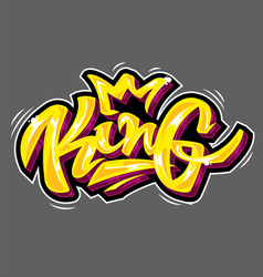 King lettering vector